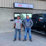 Stu & Greg in front of IFE/GRM Grande Prairie